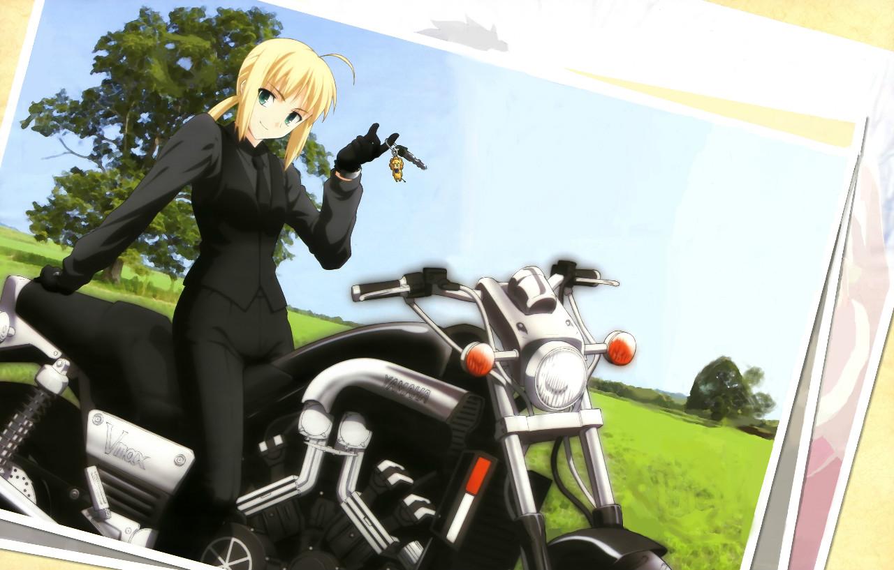 Anime Girls With Motorcycle Wallpaper Fate Zero Fate Zero Photo 31243847 Fanpop
