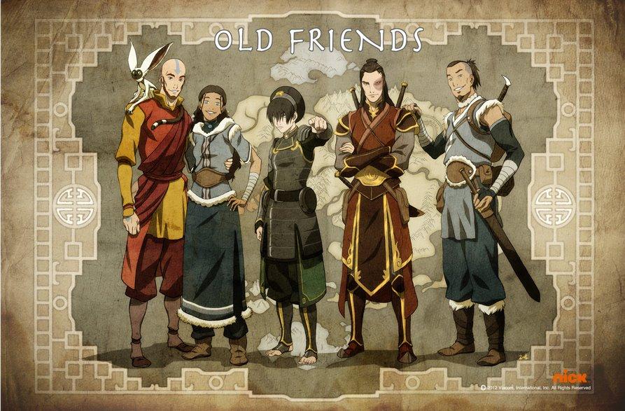 Image result for legend of korra avatar friends poster