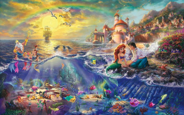 "Thomas Kinkade ""disney Dreams"" - Disney Princess Wallpaper"