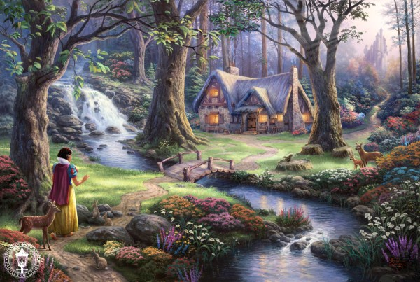 """Thomas Kinkade """"disney Dreams"""" - Disney Princess"""