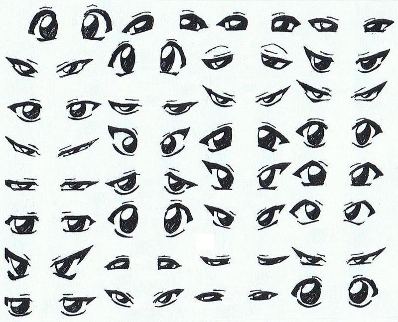 Future Mangakas images Manga lessons: types of eyes HD