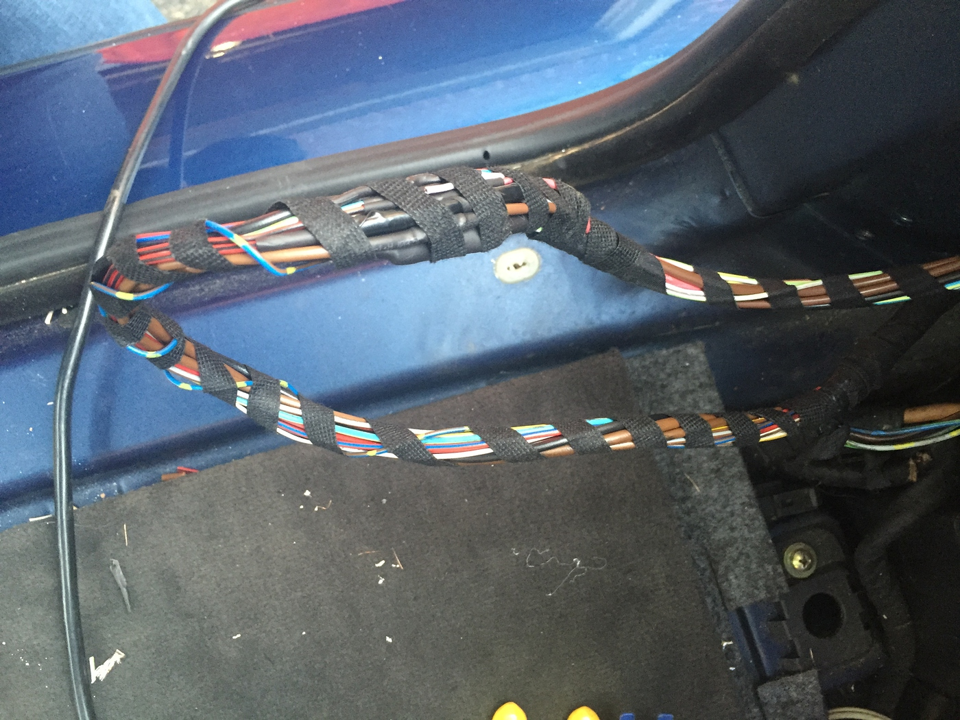 hight resolution of 5 finally re wrap the new and existing harness with the wire loom tape for a oem looking finish