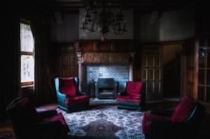 dark gothic fireplace chair chandelier living background sitting livingroom wall wallpapers door window