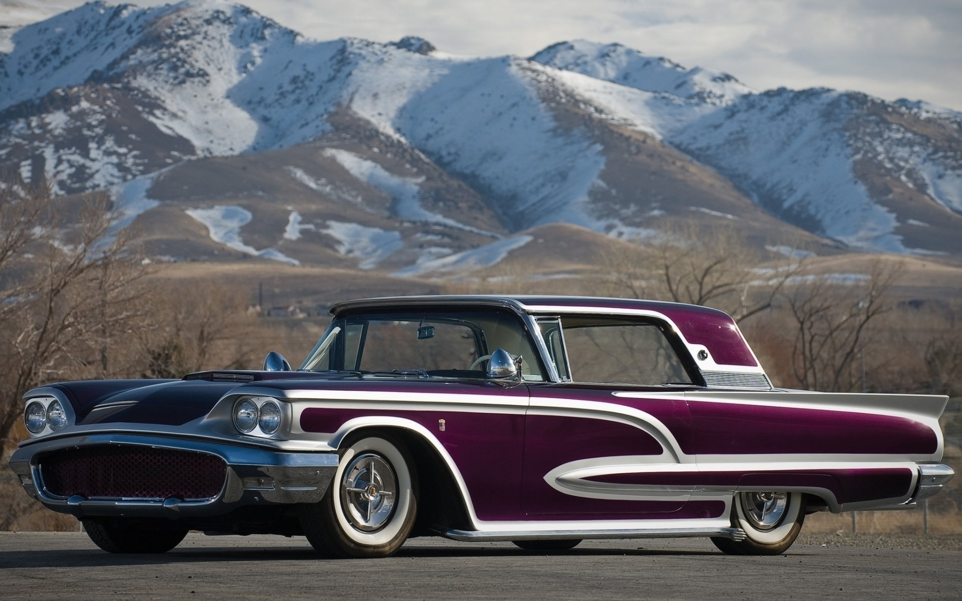 Classic Muscle Car Wallpapers Hd 1680x1050 Ford Thunderbird 1958 Full Hd Wallpaper And Background