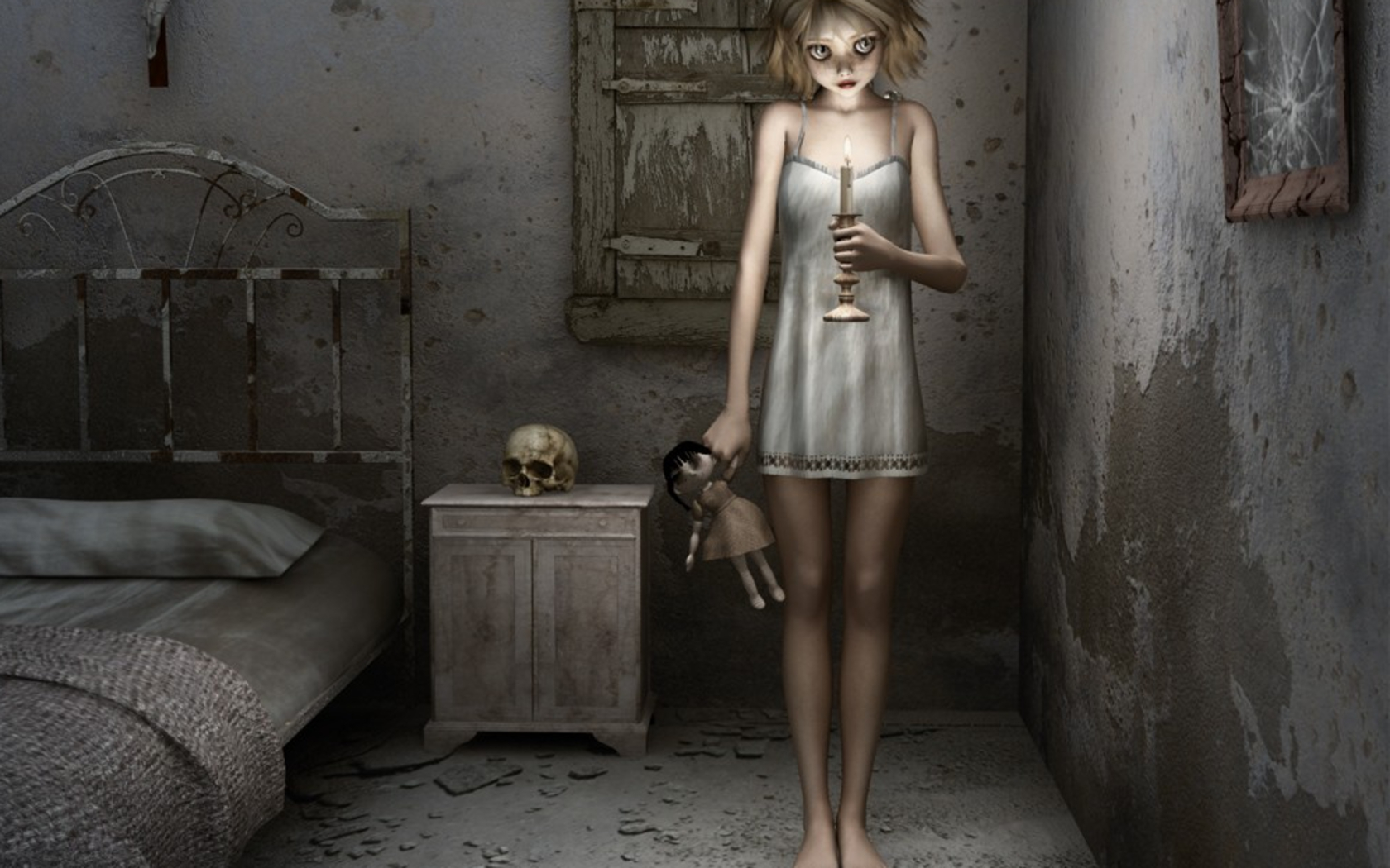 Ghost Girl Horror Wallpaper For Iphone Creepy Girl Wallpaper And Background Image 1680x1050