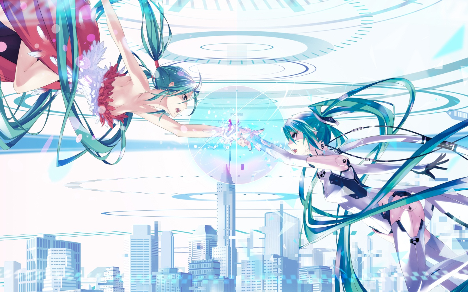 Iphone 5 Falling Snow Wallpaper Vocaloid Wallpaper And Background Image 1638x1023 Id