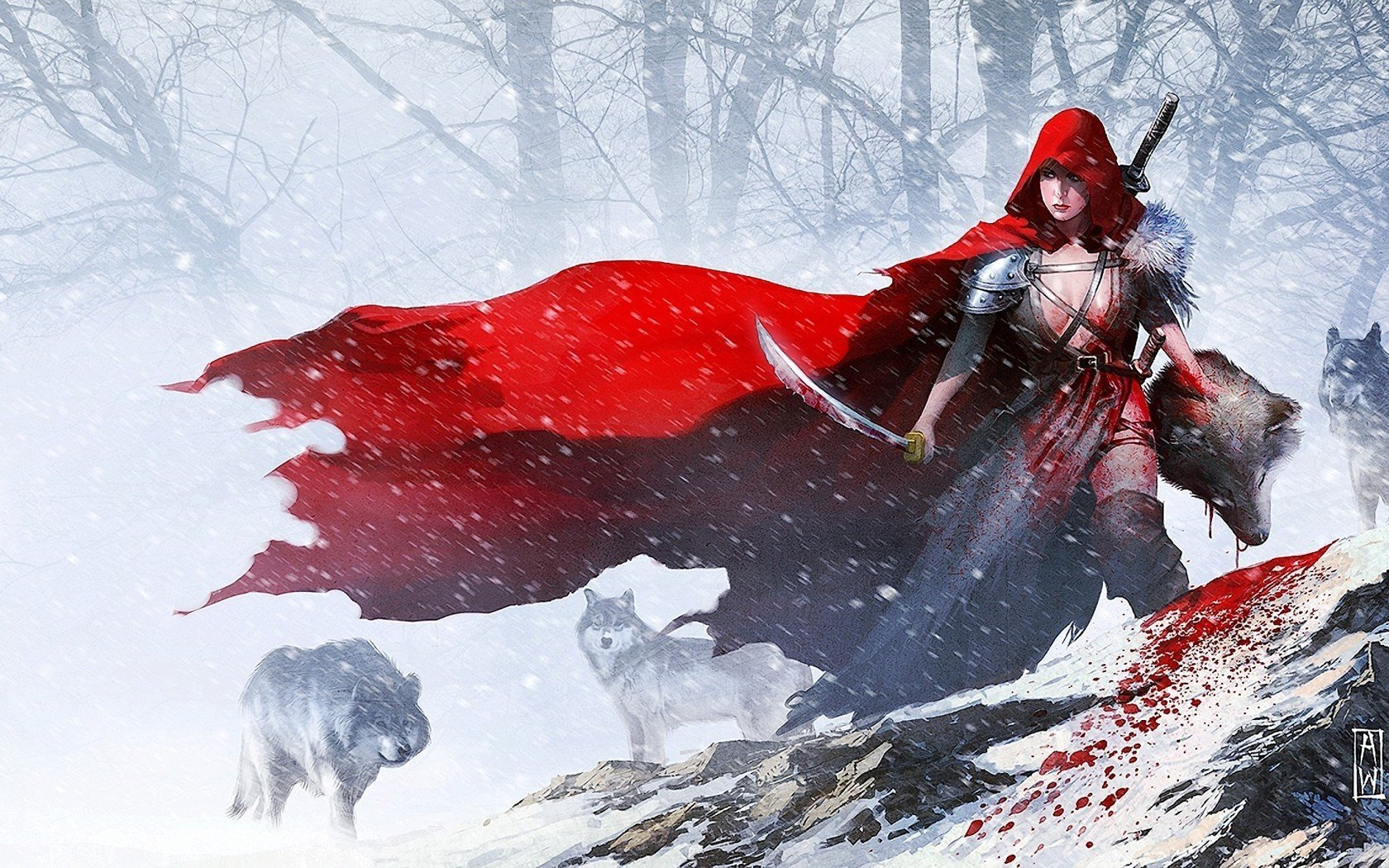 Anime Girl Wallpaper 1440x2960 Red Riding Hood Wallpaper And Background Image 1680x1050