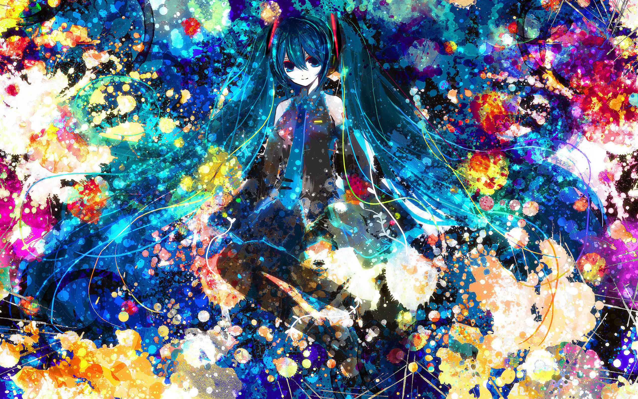 Jackson Pollock Iphone Wallpaper Vocaloid Hd Wallpaper Background Image 2560x1600 Id