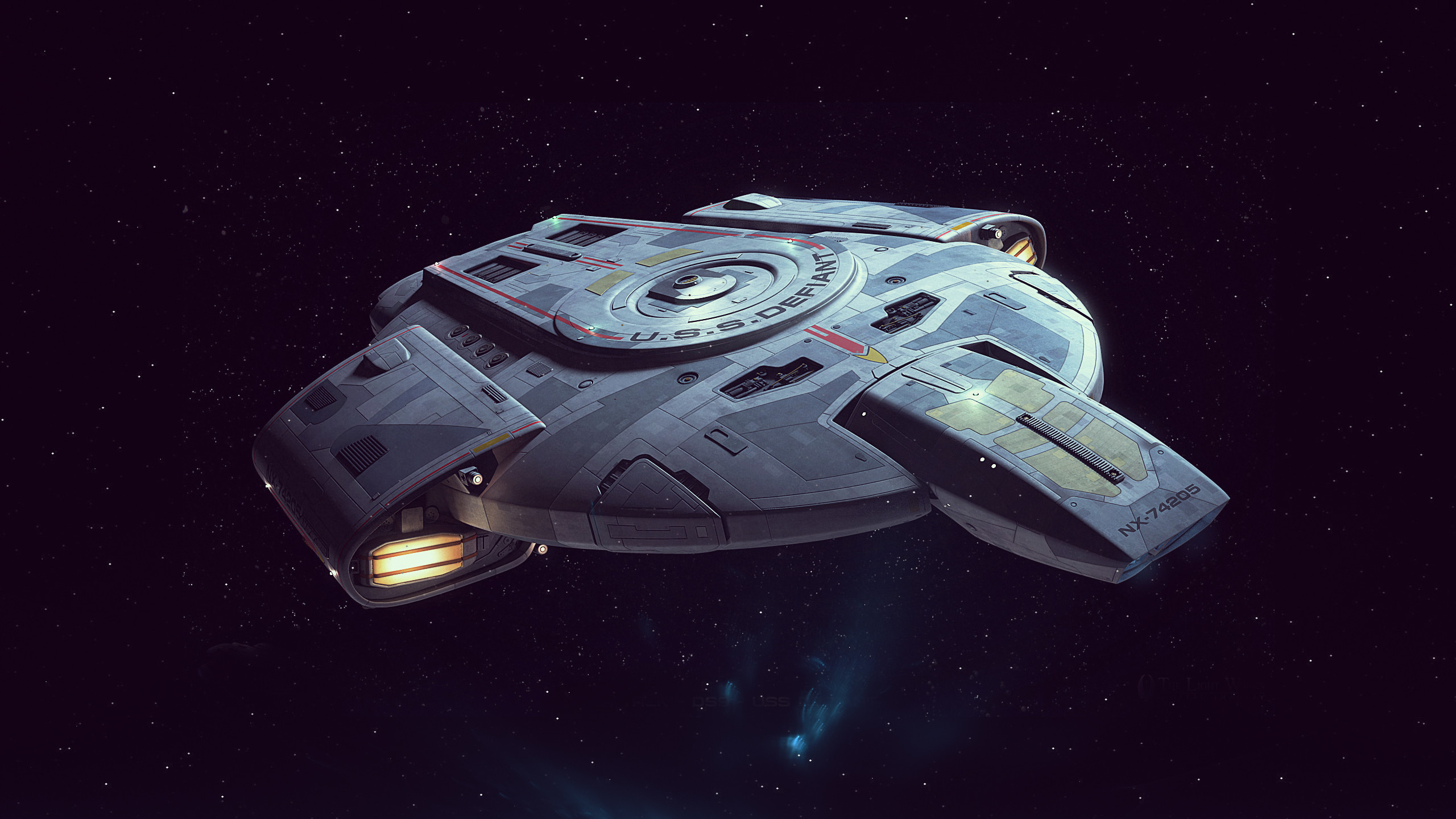 Lcars Wallpaper Iphone X Uss Defiant Full Hd Wallpaper And Background Image