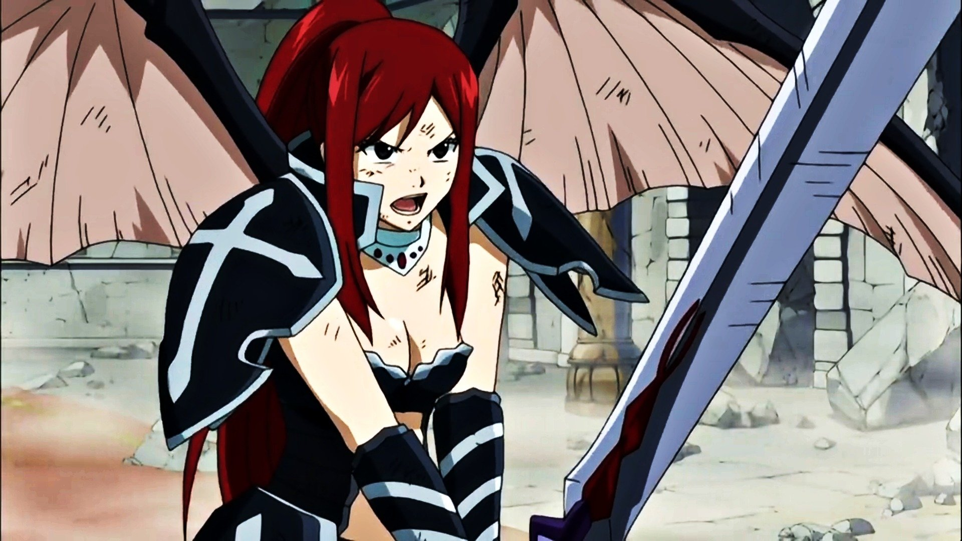 Hd Tough Girls Wallpaper Erza Scarlet Full Hd Wallpaper And Background Image