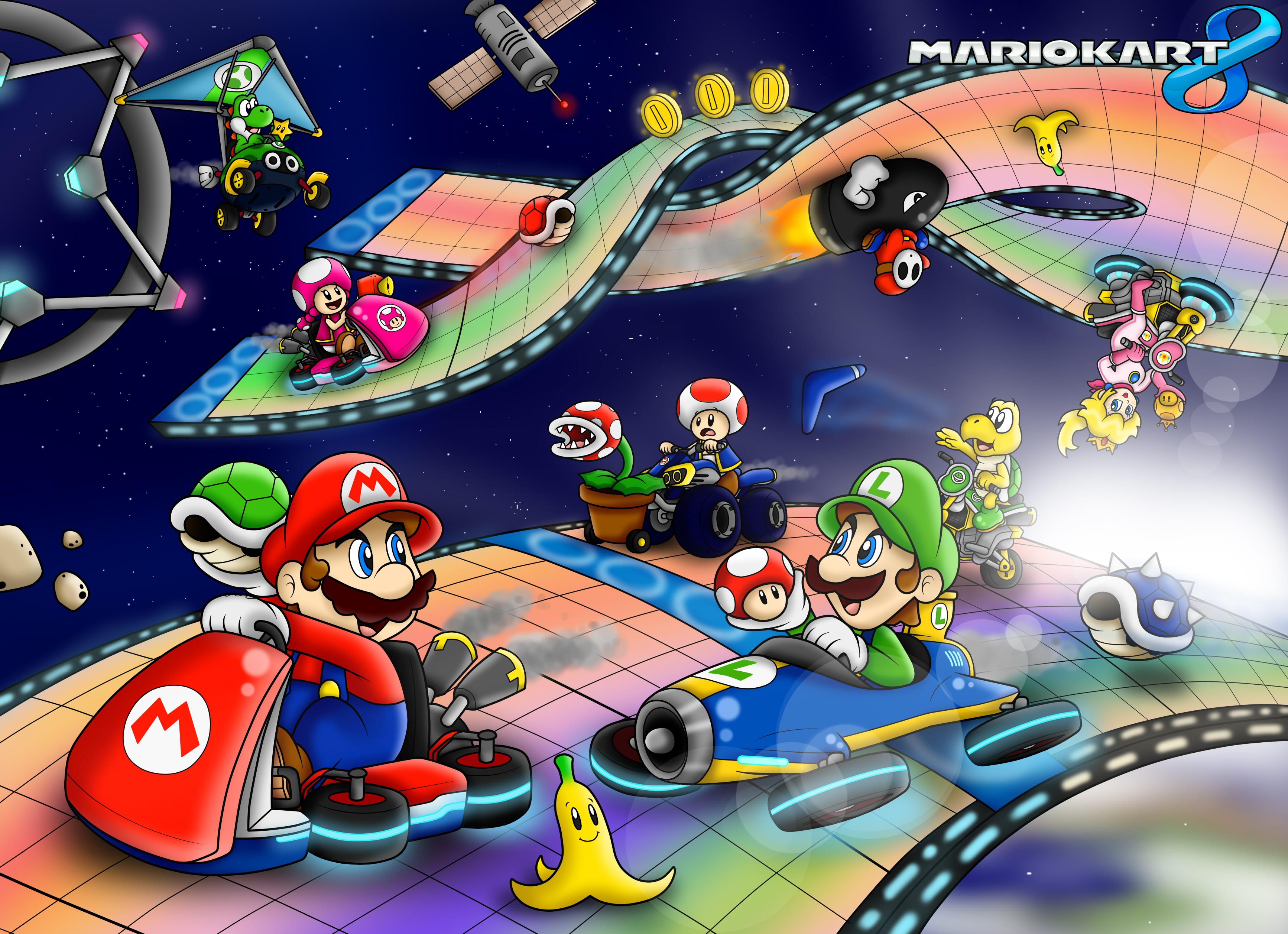 Mario Kart Iphone Wallpaper Mario Kart 8 Full Hd Fond D 233 Cran And Arri 232 Re Plan