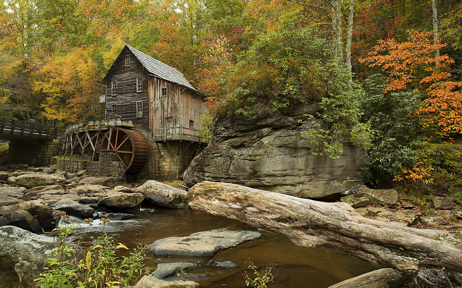Fall In Vermont Wallpaper Watermill Hd Wallpaper Background Image 1920x1200 Id