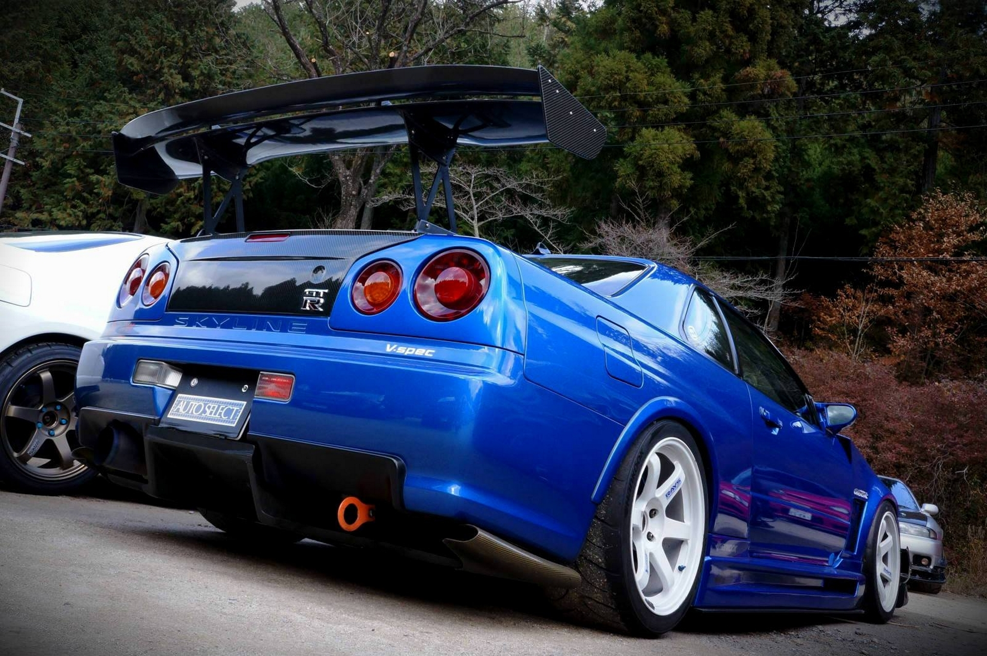 Cars Wallpaper Infront Of Skyline Nissan Skyline R34 Full Hd Wallpaper And Background Image