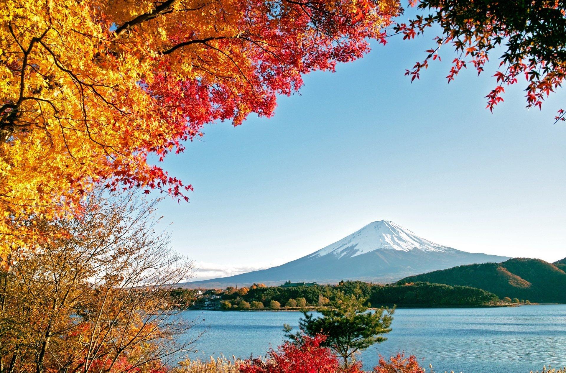 Fall Iphone 5 Wallpaper Hd Mont Fuji Full Hd Fond D 233 Cran And Arri 232 Re Plan