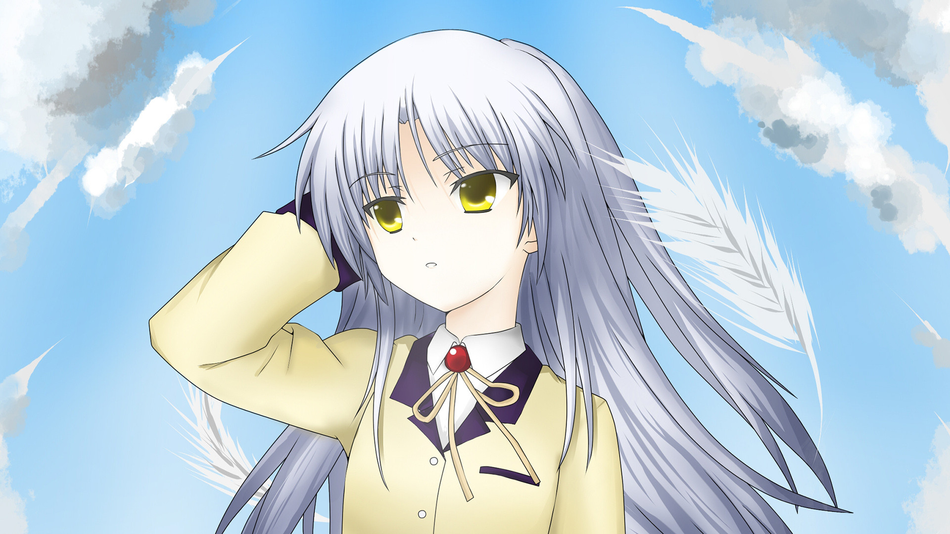 Anime Girl Wallpaper 1440x2960 Angel Beats Hd Wallpaper Background Image 1920x1080