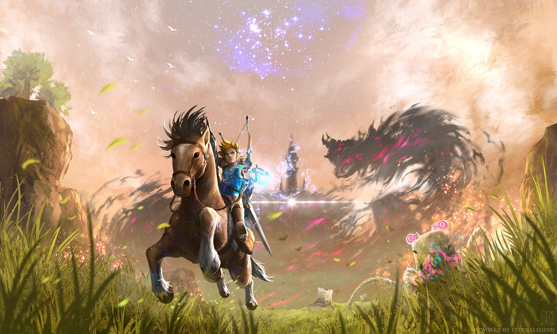 Dual Monitor Wallpaper Breath Of The Wild Wengerluggagesave