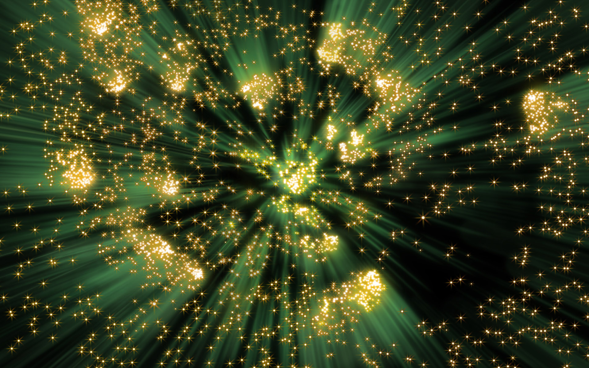Green With Gold Sparkles HD Wallpaper Background Image