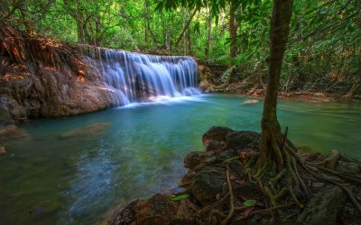 Tropical Waterfall HD Wallpaper | Background Image ...