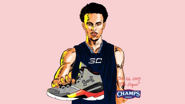 5b872f99f Cartoon Stephen Curry Basketball Shoes - Year of Clean Water