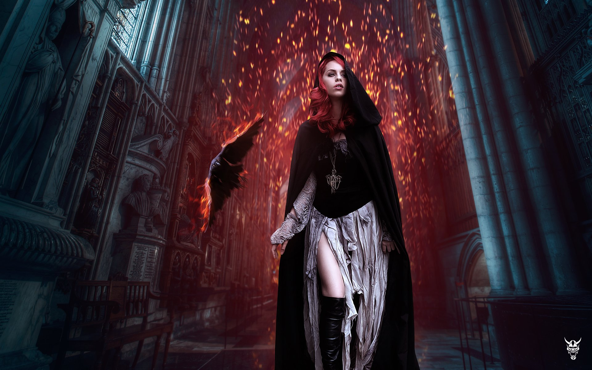 Goth Girl Wallpaper 1440x2960 Quot Walk With Fire Quot Hd Wallpaper Background Image
