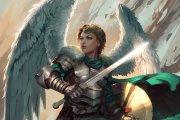 angel warrior 4k ultra hd wallpaper