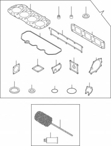Set garnituri motor buldoexcavator Komatsu WB93 si WB97