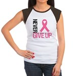NeverGiveUp Breast Cancer Women's Cap Sleeve T-Shi