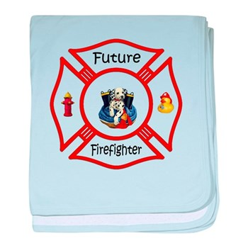 Future Firefighter Red baby blanket