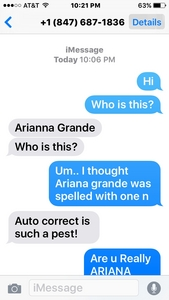 What Is Ariana Grande's Phone Number : ariana, grande's, phone, number, What's, Ariana, Grande, Phone, Number, Réponses, Fanpop