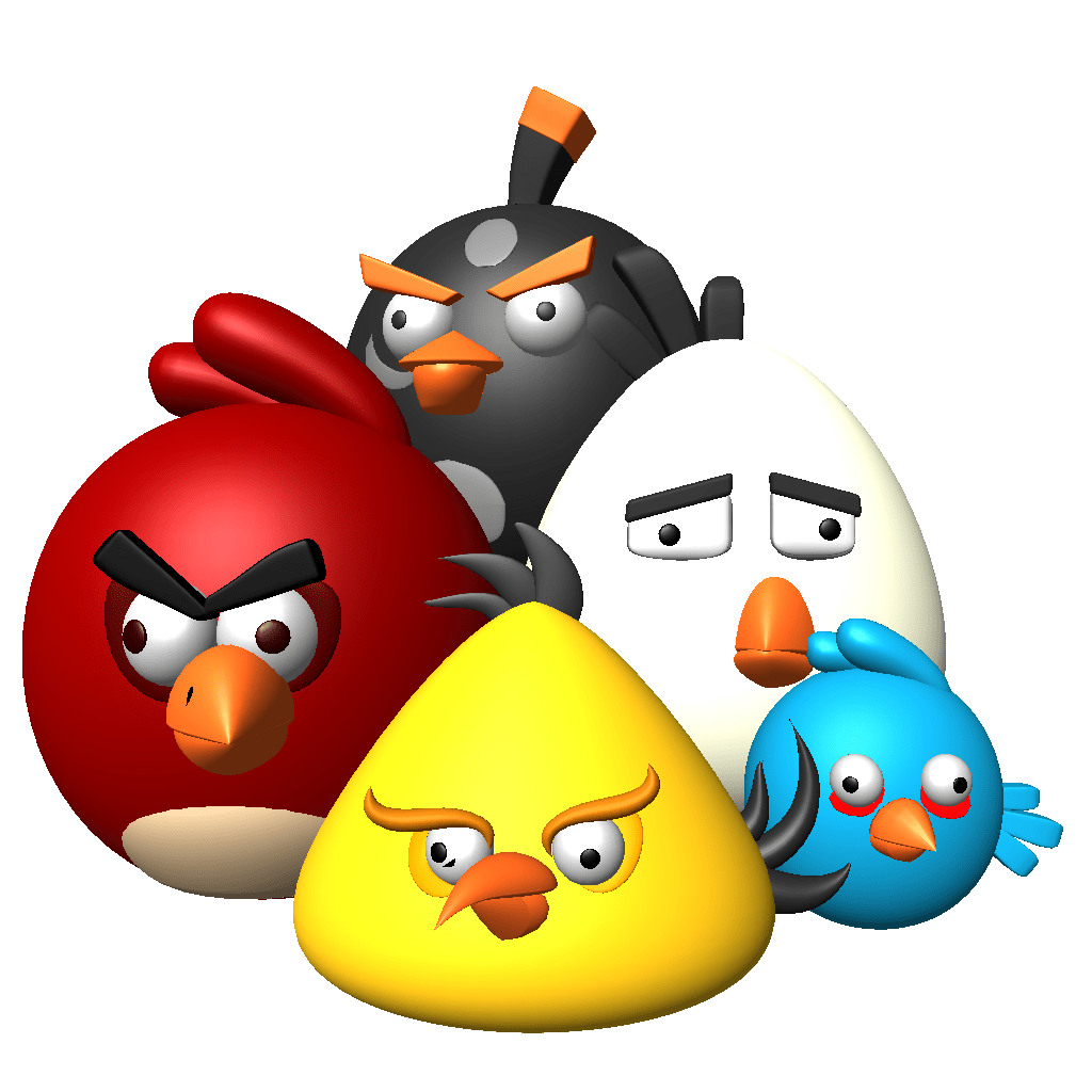 3d angry birds angry