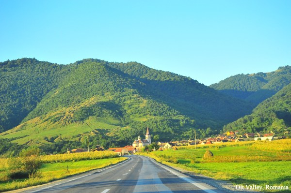 beautiful romania landscape olt