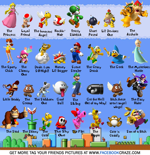 mario and characters super