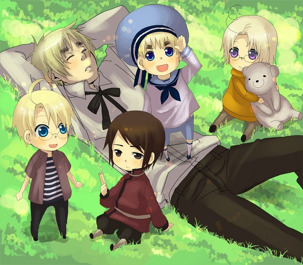 Cute Cartoon Seal Wallpaper England Sealand Hong Kong America And Canada Hetalia