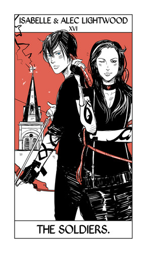 Shadowhunter Tarot Cards - isabelle-lightwood Fan Art