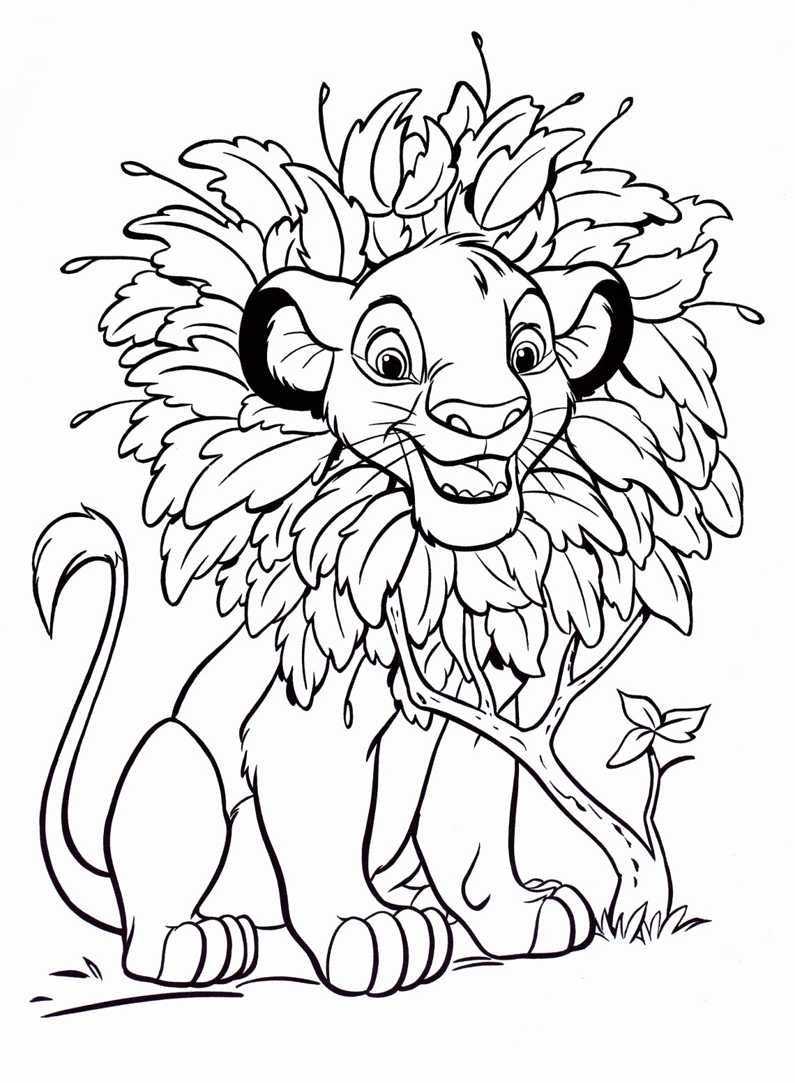 Walt Disney Coloring Pages - Simba - Walt Disney ...   colouring pages disney characters
