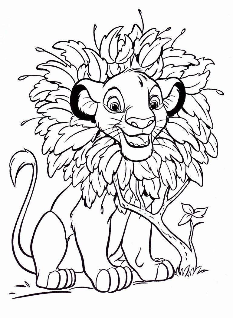 Walt Disney Coloring Pages - Simba - Walt Disney ...   coloring pictures printable disney characters