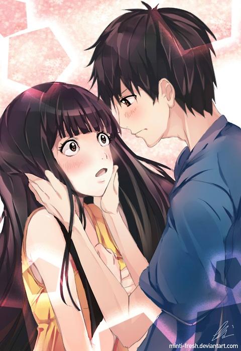Baddest Girl Cartoon Wallpaper Kazehaya X Sawako Kakukun Fan Art 34730523 Fanpop