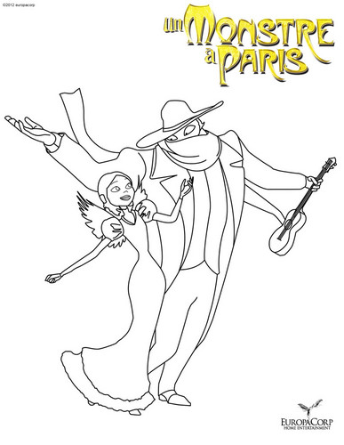 A Monster In Paris images A Monster in Paris Coloring Page