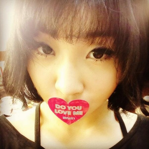 2ne1 Falling In Love Wallpaper 2ne1 Images Minzy S Instagram Update Quot Do You Love Me