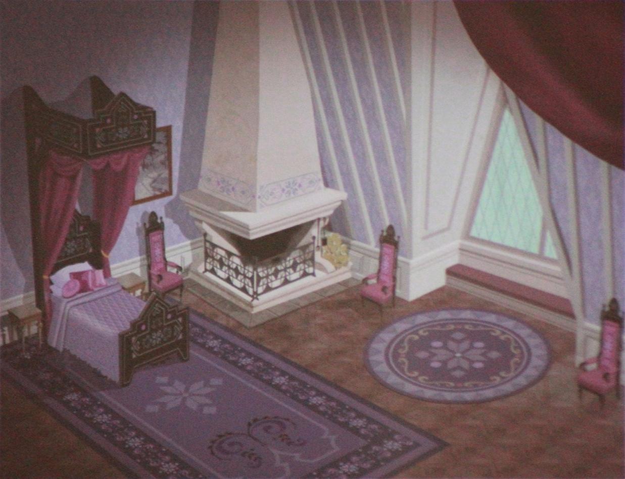 Official Frozen Concept Art  Elsas Bedroom  Frozen