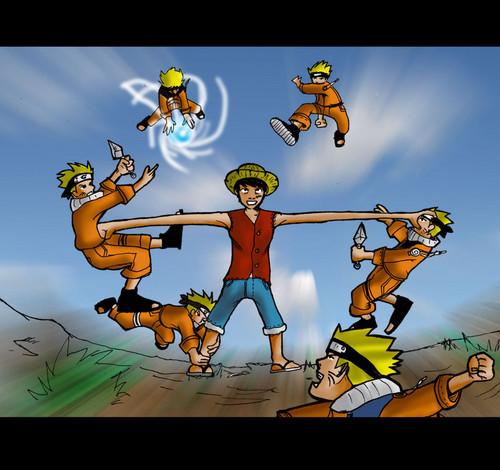 All that ninja/magic/chakra/craziness might be too much for luffy. Luffy Vs Naruto Anime Debat Foto 35955559 Fanpop