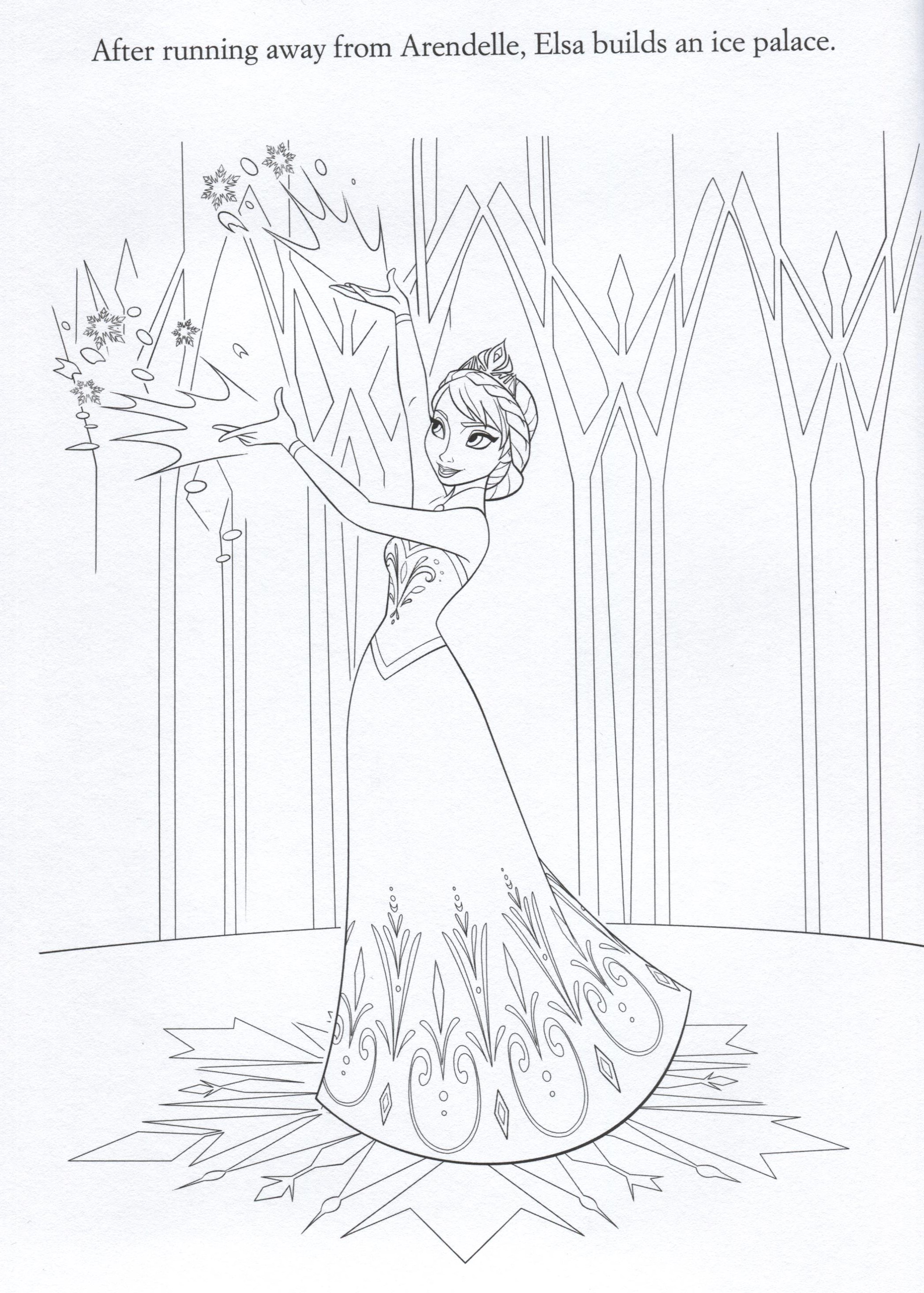 Frozen Fever Movie 2015 Coloring Pages Coloring Pages