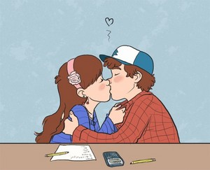 Gravity Falls Dipper And Mabel Kissing Wallpaper Dipper X Mabel Gravity Falls Photo 36237222 Fanpop
