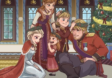Anna And Kristoff Royal Family Holiday