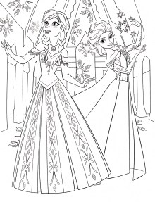 Princess Elsa And Anna Coloring Pages
