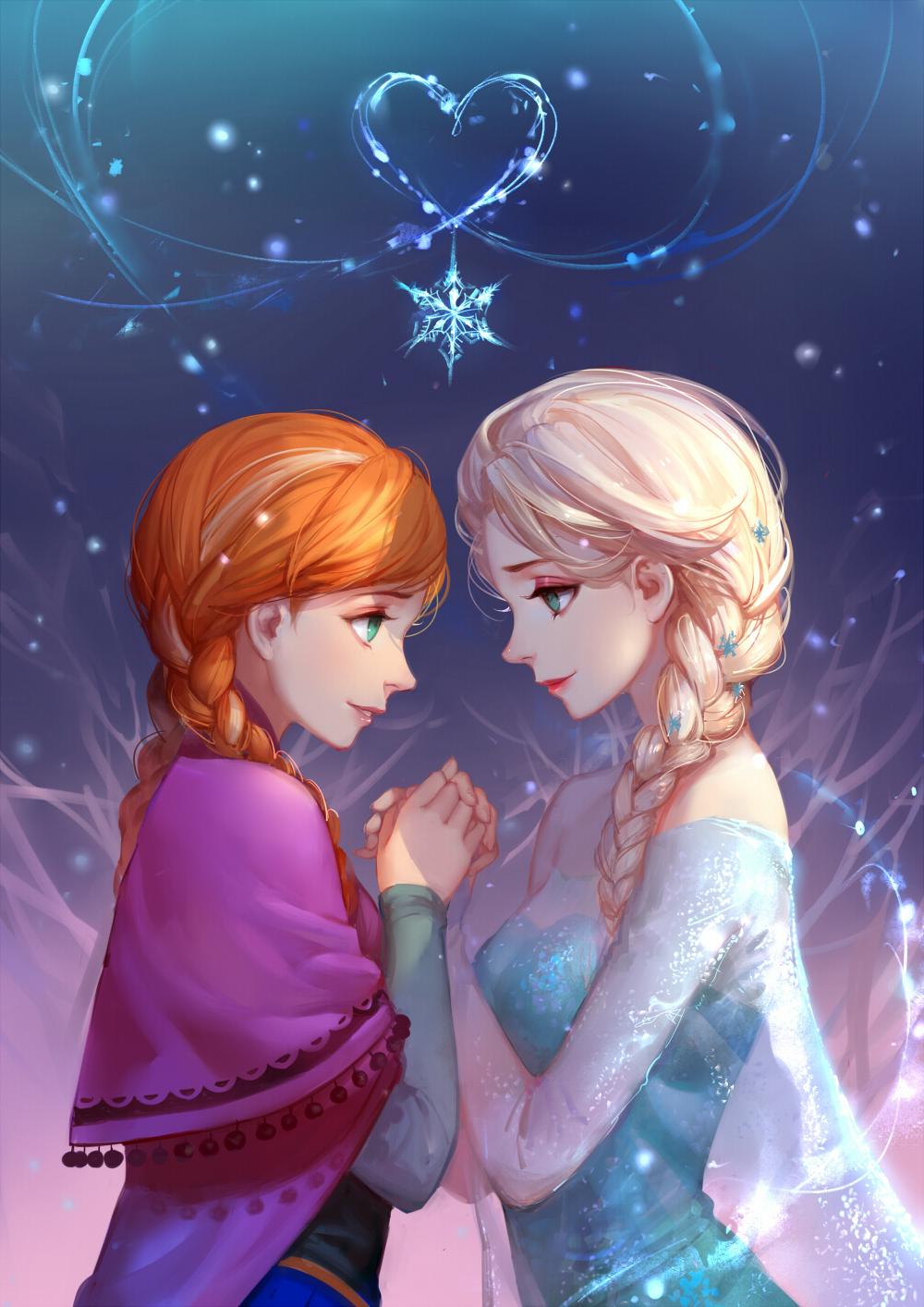 Anna and Elsa - Elsa and Anna Fan Art (36881909) - Fanpop