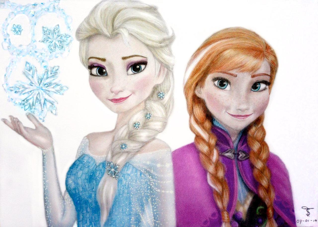 Elsa and Anna - Elsa und Anna Fan Art (36847607) - Fanpop