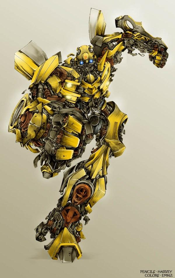 Transformers Bumble Bee Art