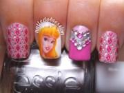 sleeping beauty nails - princess