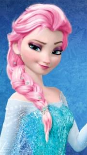 elsa - pink hair color frozen